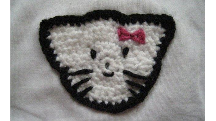 Katzenkopf-Aufnäher